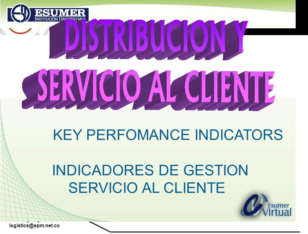 www.highlogistics.com logistics@epm.net.co KEY PERFOMANCE INDICATORS INDICADORES DE GESTION SERVICIO AL CLIENTE