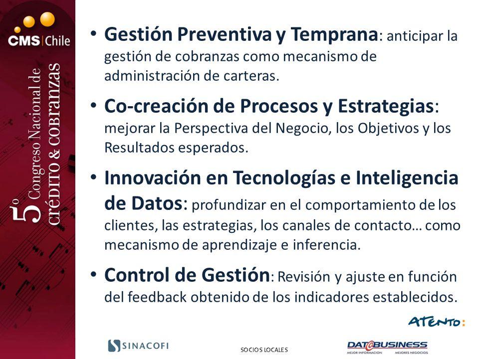 Gestión Preventiva y Temprana : anticipar la gestión de cobranzas como mecanismo de administración de carteras. Co-creación de Procesos y Estrategias: