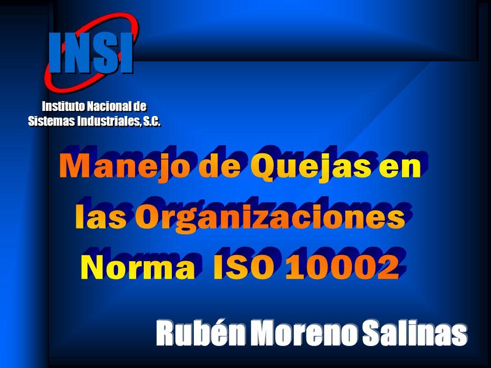 Norma ISO 10002 Directrices para el tratamiento de las quejas en las organizaciones Parte de la serie de normas ISO sobre satisfacción del cliente: ISO 10001Directrices para los códigos de conducta ISO 10002Directrices para el tratamiento de las quejas en las organizaciones (antes ISO 10018) ISO 10003Directrices para la resolución externa de disputas con los clientes Parte de la serie de normas ISO sobre satisfacción del cliente: ISO 10001Directrices para los códigos de conducta ISO 10002Directrices para el tratamiento de las quejas en las organizaciones (antes ISO 10018) ISO 10003Directrices para la resolución externa de disputas con los clientes