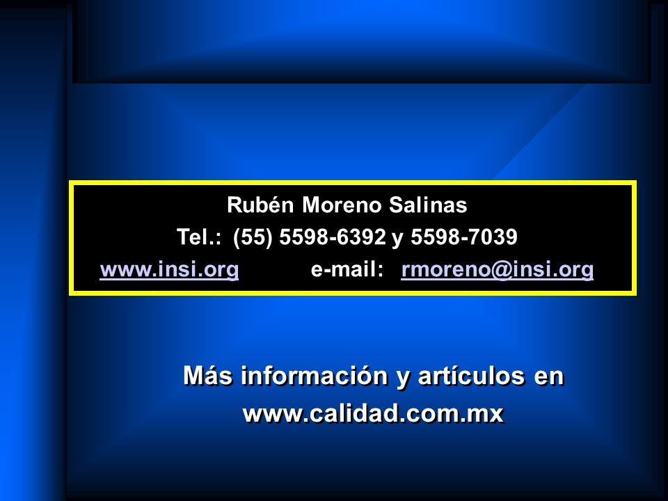 Rubén Moreno Salinas Tel.: (55) 5598-6392 y 5598-7039 www.insi.orgwww.insi.org e-mail: rmoreno@insi.orgrmoreno@insi.org Más información y artículos en
