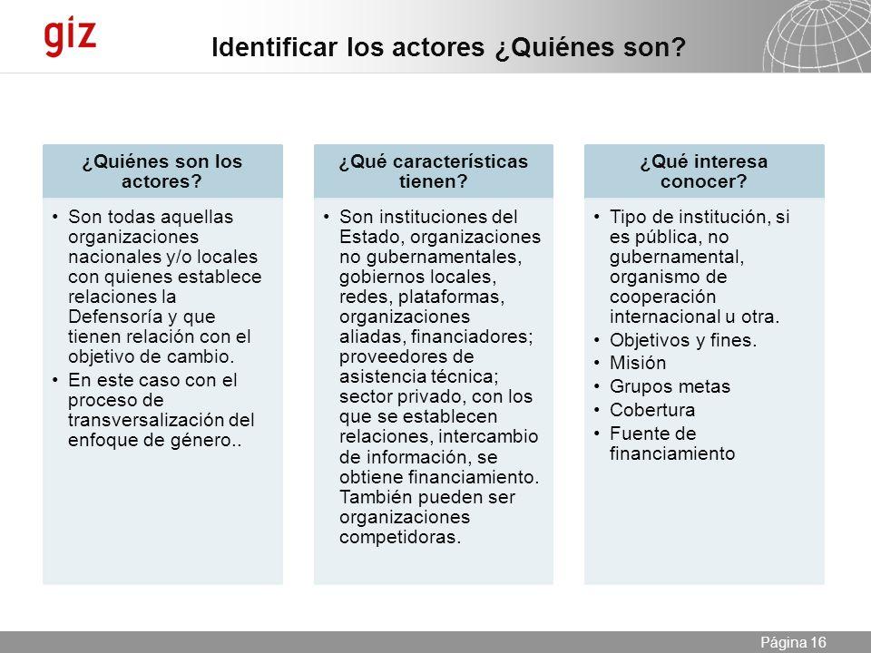 25.04.2014 Seite 16 Página 16 ¿Quiénes son los actores.