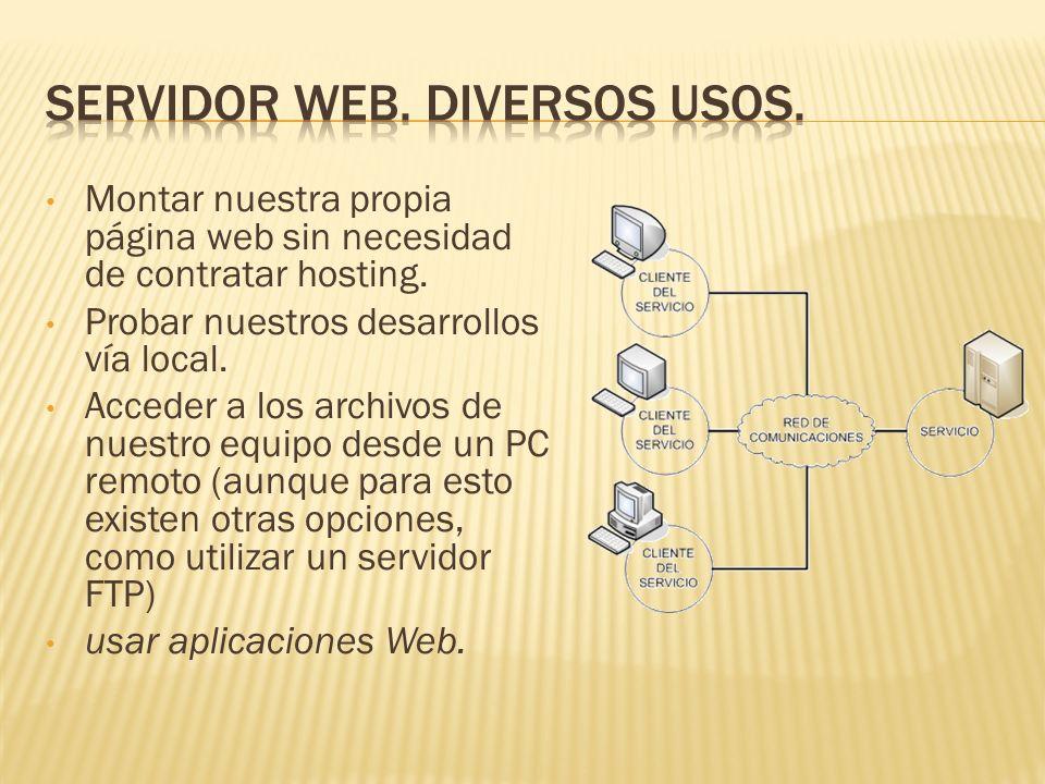 Montar nuestra propia página web sin necesidad de contratar hosting.