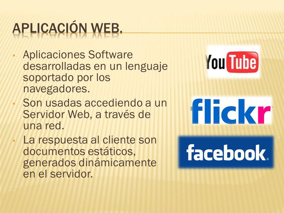 Aplicaciones Software desarrolladas en un lenguaje soportado por los navegadores.