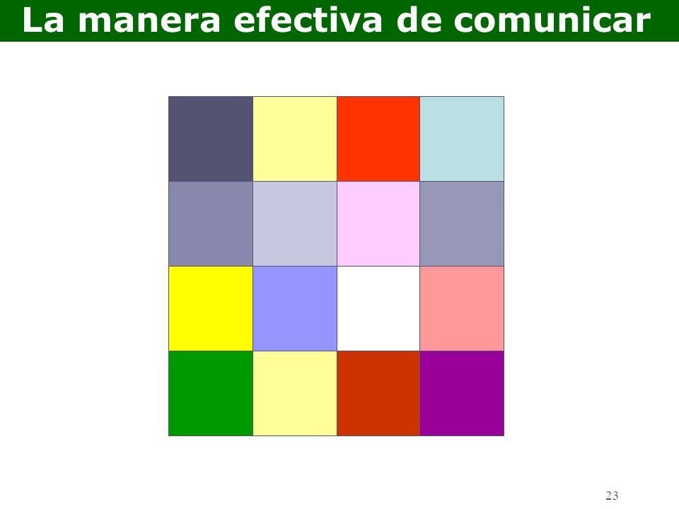 23 La manera efectiva de comunicar