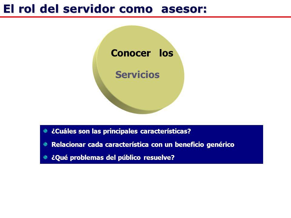 Conocer los Servicios ¿Cuáles son las principales características.