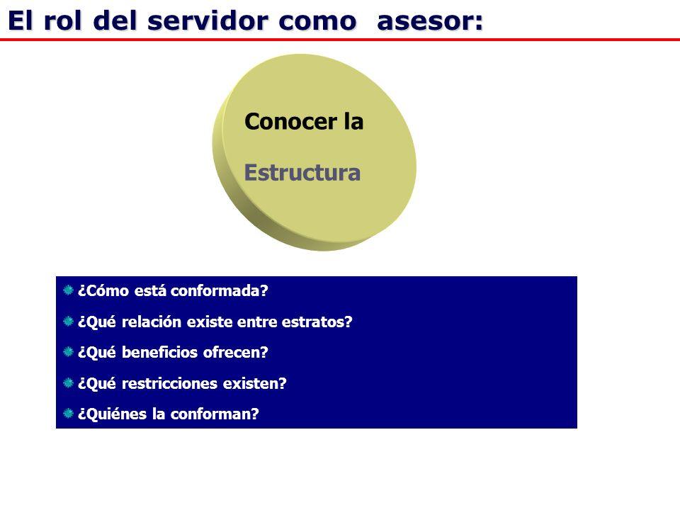El rol del servidor como asesor: Conocer la Estructura ¿Cómo está conformada.