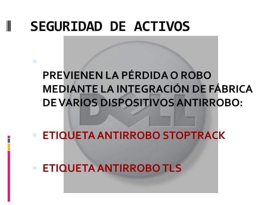 SEGURIDAD DE ACTIVOS PREVIENEN LA PÉRDIDA O ROBO MEDIANTE LA INTEGRACIÓN DE FÁBRICA DE VARIOS DISPOSITIVOS ANTIRROBO: ETIQUETA ANTIRROBO STOPTRACK ETIQUETA ANTIRROBO TLS