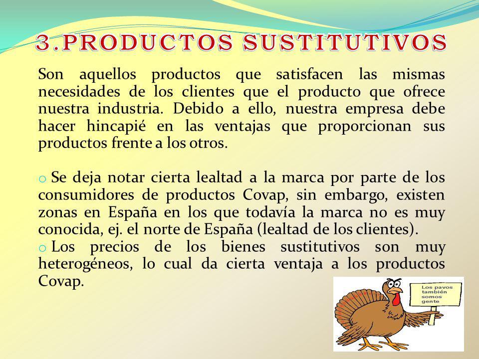 Son aquellos productos que satisfacen las mismas necesidades de los clientes que el producto que ofrece nuestra industria. Debido a ello, nuestra empr