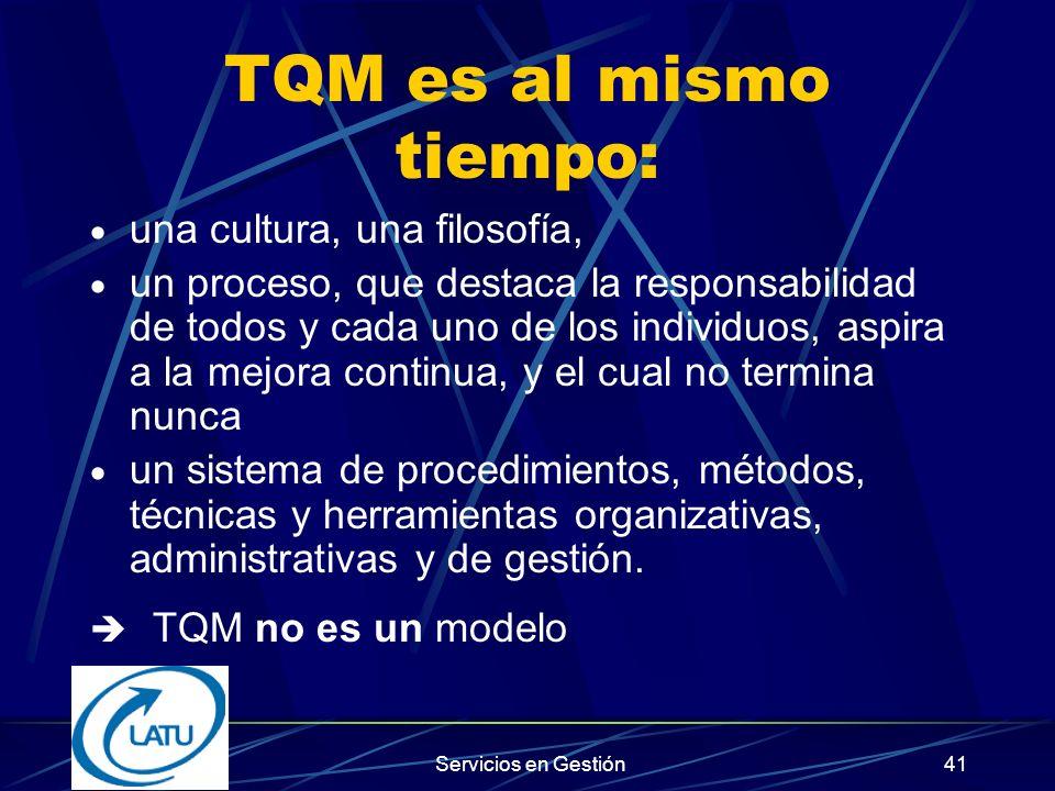 Servicios en Gestión40 TOTAL QUALITY MANAGEMENT