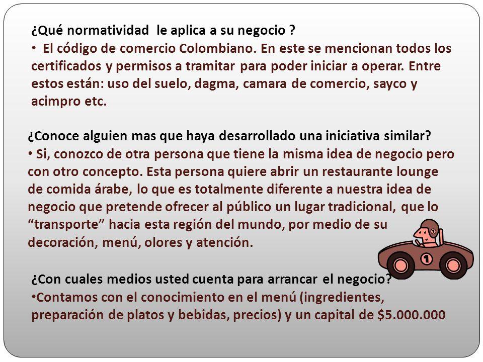 ¿Qué normatividad le aplica a su negocio ? El código de comercio Colombiano. En este se mencionan todos los certificados y permisos a tramitar para po