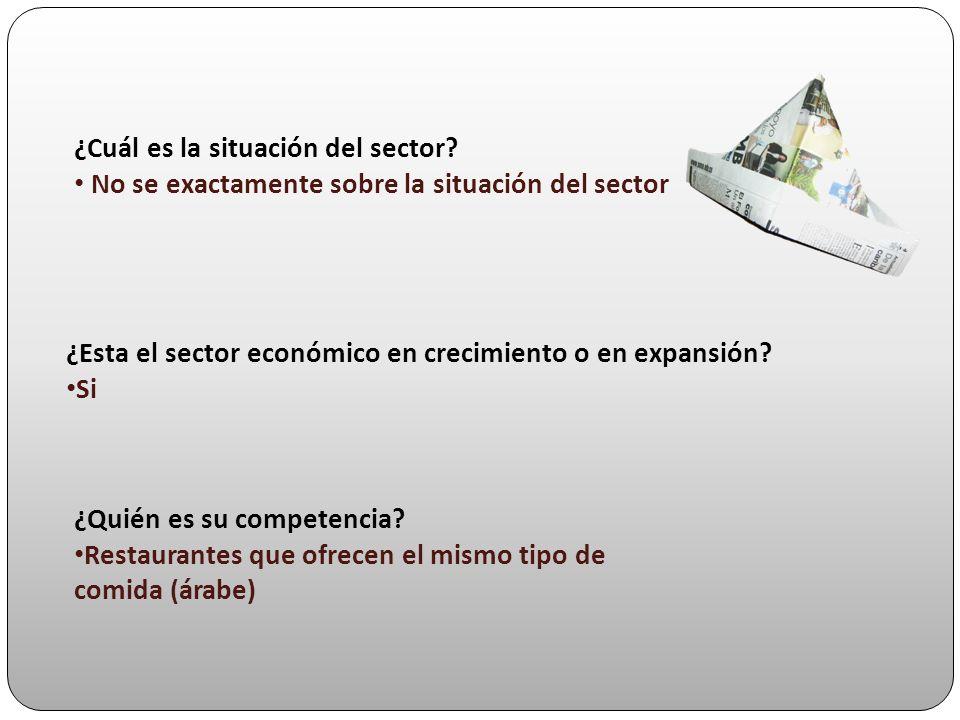 ¿Cuál es la situación del sector? No se exactamente sobre la situación del sector ¿Esta el sector económico en crecimiento o en expansión? Si ¿Quién e