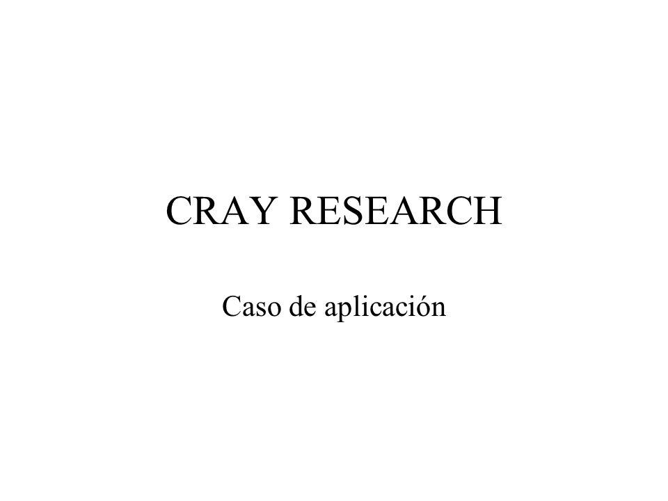 CRAY RESEARCH Caso de aplicación