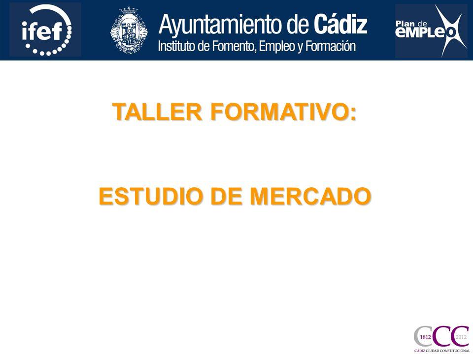 TALLER FORMATIVO: ESTUDIO DE MERCADO