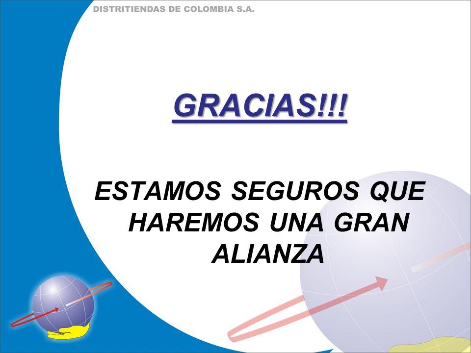 GRACIAS!!! ESTAMOS SEGUROS QUE HAREMOS UNA GRAN ALIANZA
