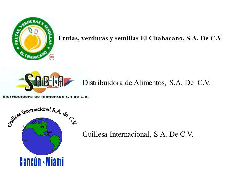 Frutas, verduras y semillas El Chabacano, S.A. De C.V.