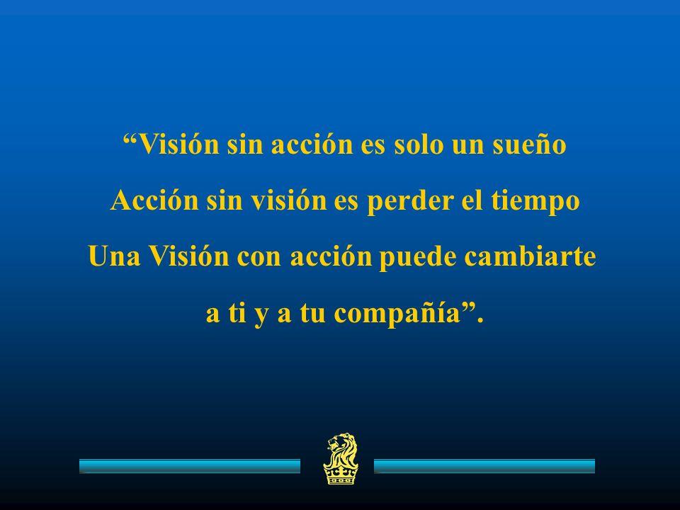 Visión sin acción es solo un sueño Acción sin visión es perder el tiempo Una Visión con acción puede cambiarte a ti y a tu compañía.