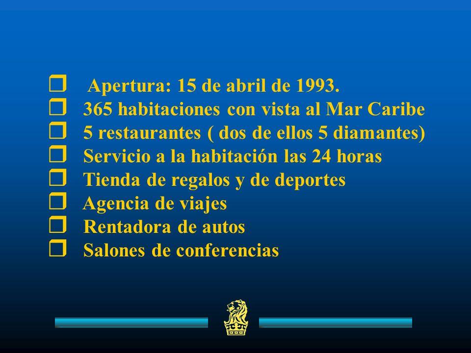 Apertura: 15 de abril de 1993.