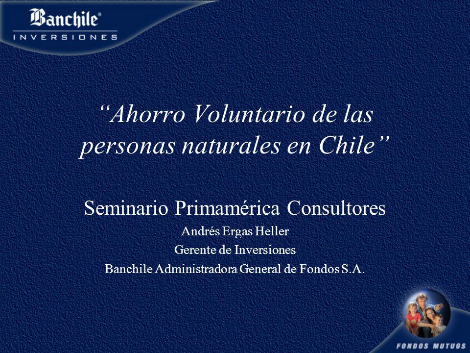 Ahorro Voluntario de las personas naturales en Chile Seminario Primamérica Consultores Andrés Ergas Heller Gerente de Inversiones Banchile Administradora General de Fondos S.A.