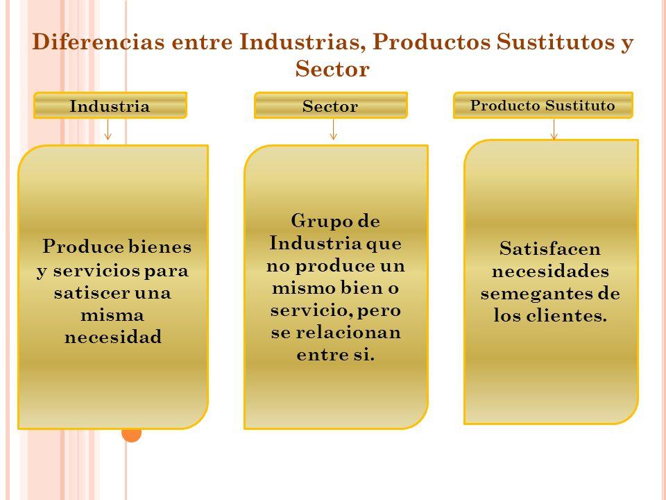 Sector Grupo de Industria que no produce un mismo bien o servicio, pero se relacionan entre si.