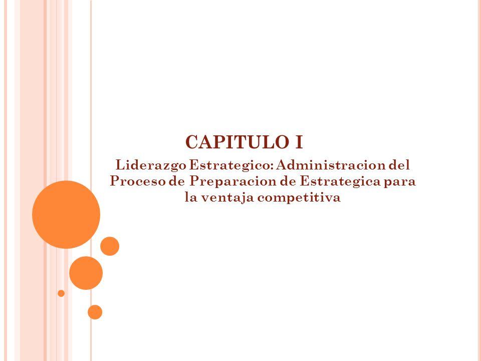 CAPITULO I Liderazgo Estrategico: Administracion del Proceso de Preparacion de Estrategica para la ventaja competitiva
