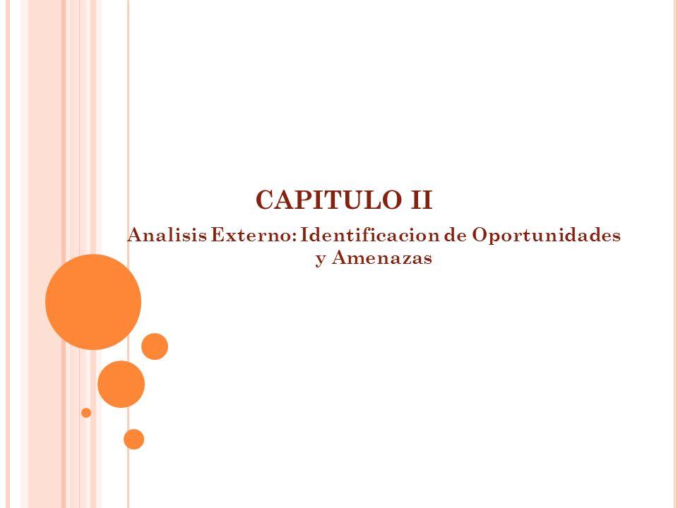 CAPITULO II Analisis Externo: Identificacion de Oportunidades y Amenazas