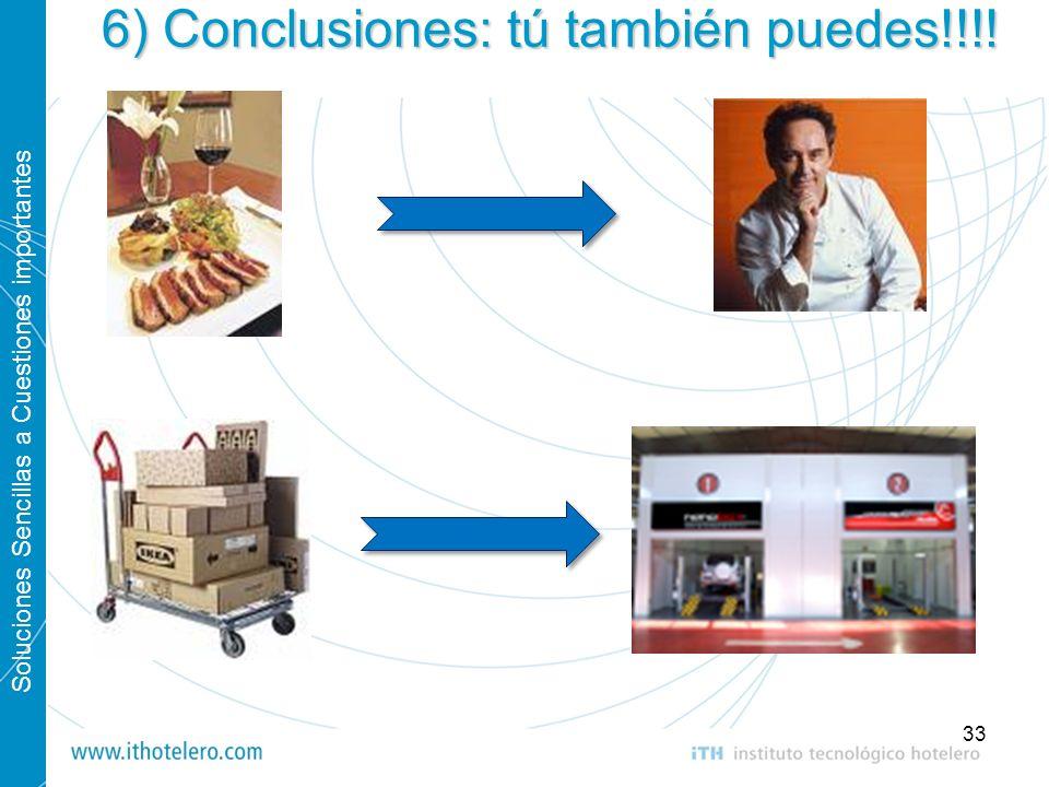 Soluciones Sencillas a Cuestiones importantes 33 6) Conclusiones: tú también puedes!!!!