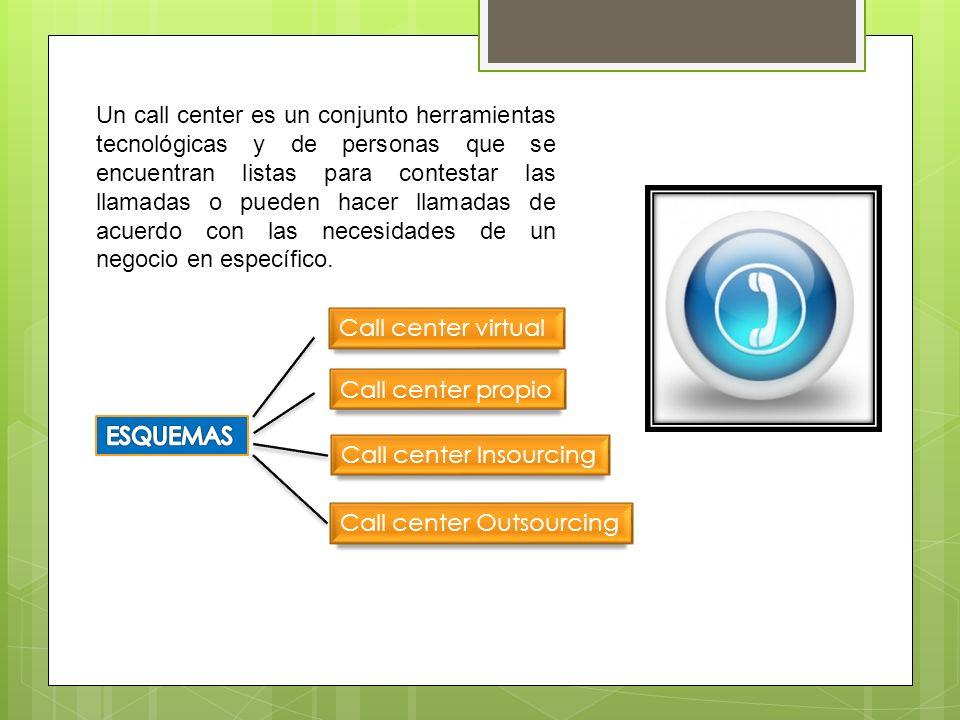 Un call center es un conjunto herramientas tecnológicas y de personas que se encuentran listas para contestar las llamadas o pueden hacer llamadas de