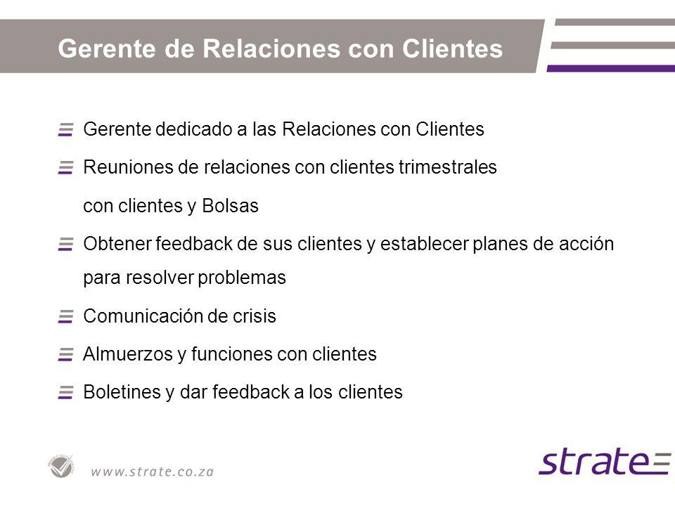 Muestra del feedback de clientes - Bottom Line Areas of strengthAreas requiring development