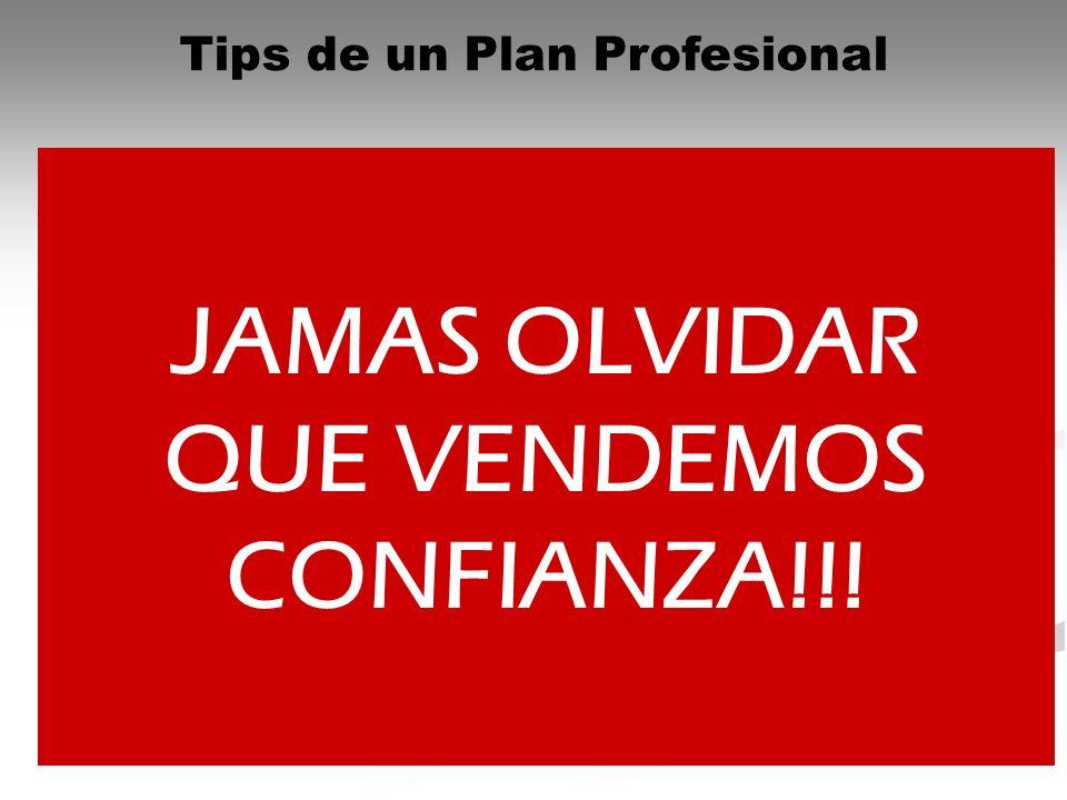 Tips de un Plan Profesional Confeccionar un Programa semanal realizable Tener todos los elementos necesarios para la gestión: formularios o fichas muy