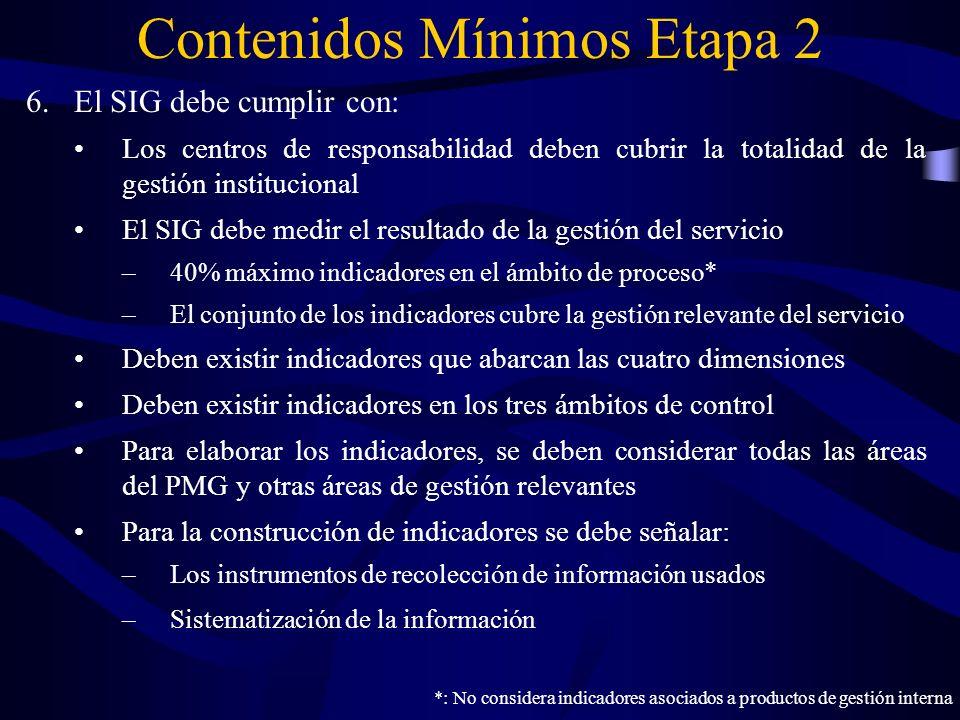 6.El SIG debe cumplir con: Los centros de responsabilidad deben cubrir la totalidad de la gestión institucional El SIG debe medir el resultado de la g