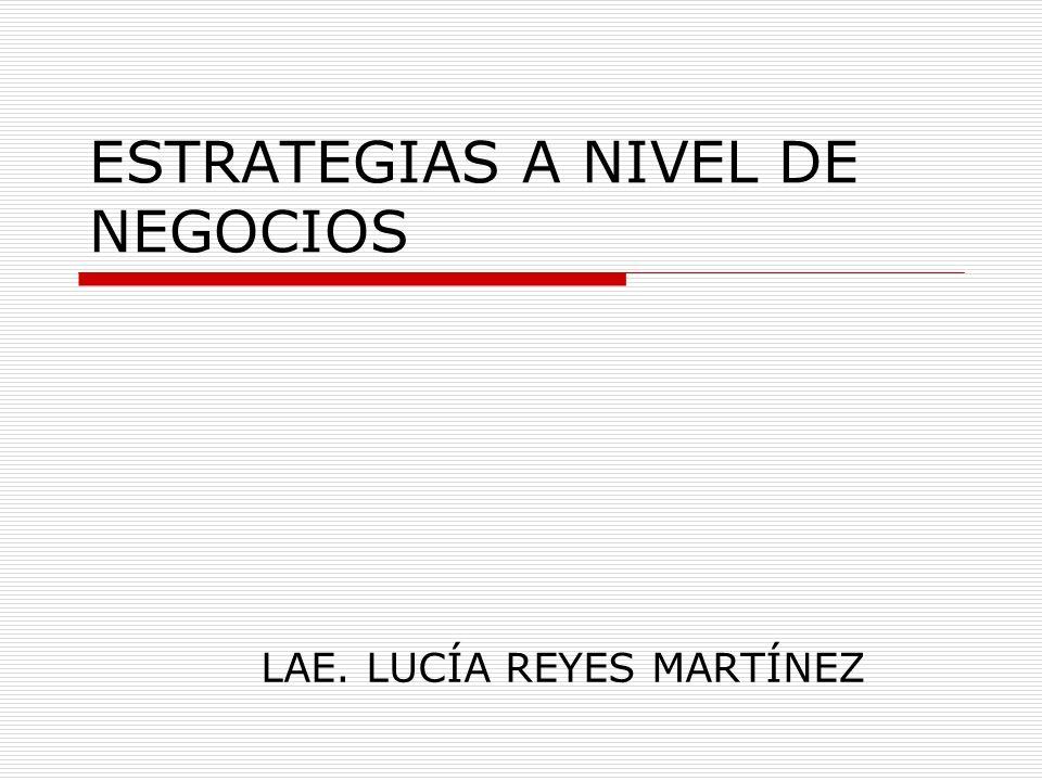 ESTRATEGIAS A NIVEL DE NEGOCIOS LAE. LUCÍA REYES MARTÍNEZ