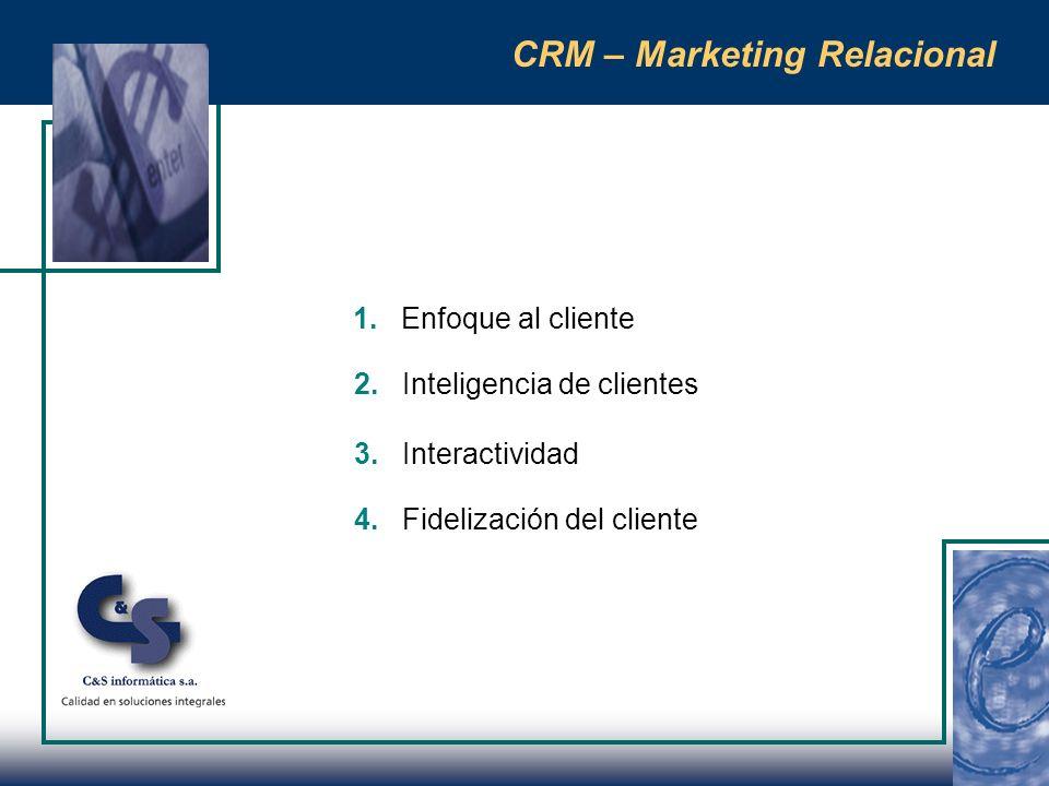 CRM – Marketing Relacional 1.¿Sé que quieren mis clientes .