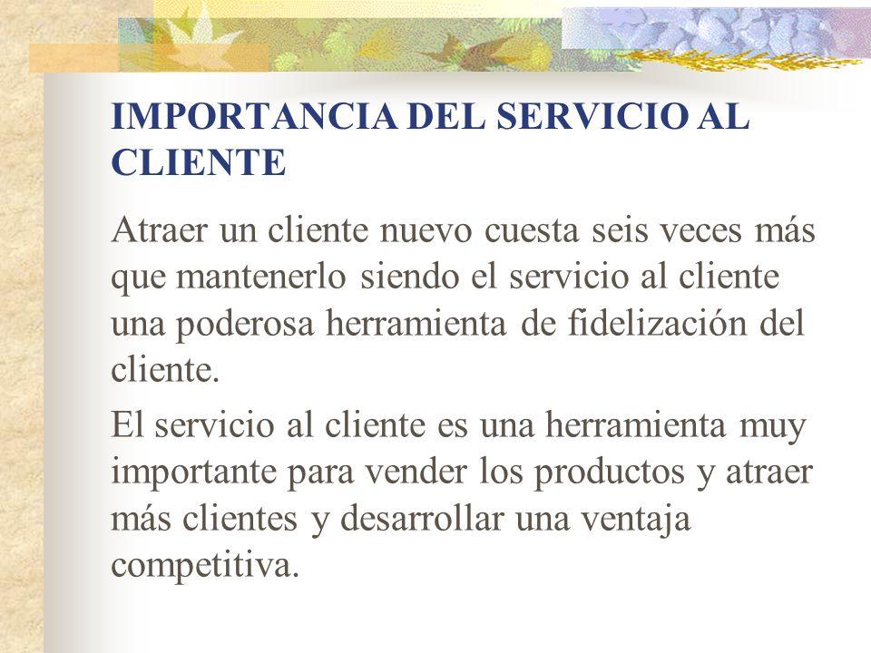 EL SERVICIO AL CLIENTE Y EL MERCADEO El mercadeo comprende estrategias de: Producto Precio Distribución Comunicaciones El servicio al cliente hace parte de la estrategia de producto de la empresa
