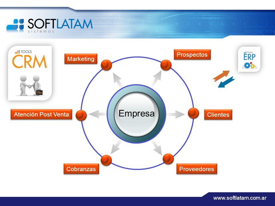 www.softlatam.com.ar Empresa Prospectos Marketing Clientes Proveedores Atención Post Venta Cobranzas
