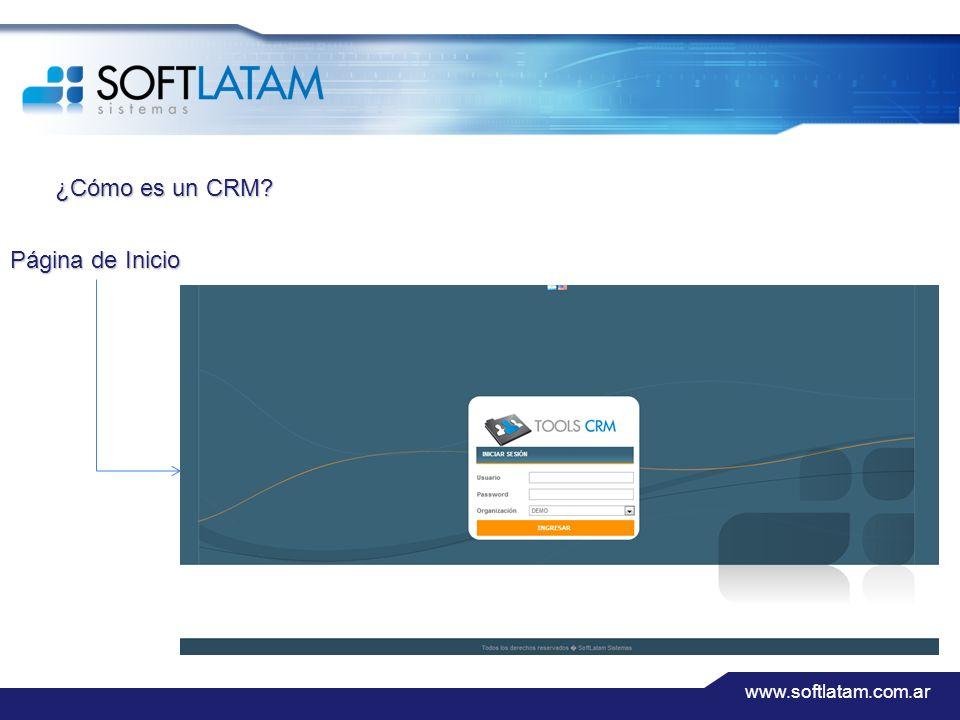 www.softlatam.com.ar ¿Cómo es un CRM? Página de Inicio