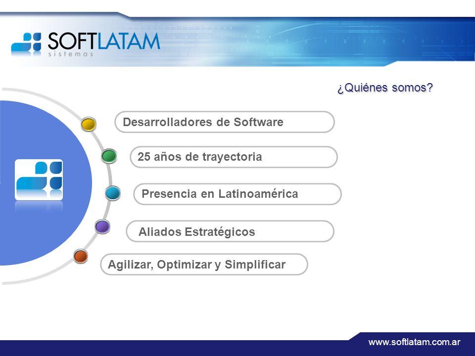 www.softlatam.com.ar 2 Agilizar, Optimizar y Simplificar Presencia en Latinoamérica 25 años de trayectoria Desarrolladores de Software Aliados Estratégicos ¿Quiénes somos?