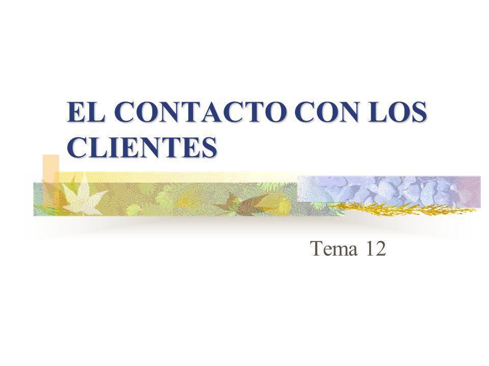 EL CONTACTO CON LOS CLIENTES Tema 12