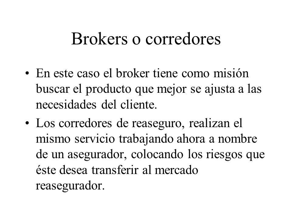 Brokers o corredores En este caso el broker tiene como misión buscar el producto que mejor se ajusta a las necesidades del cliente.