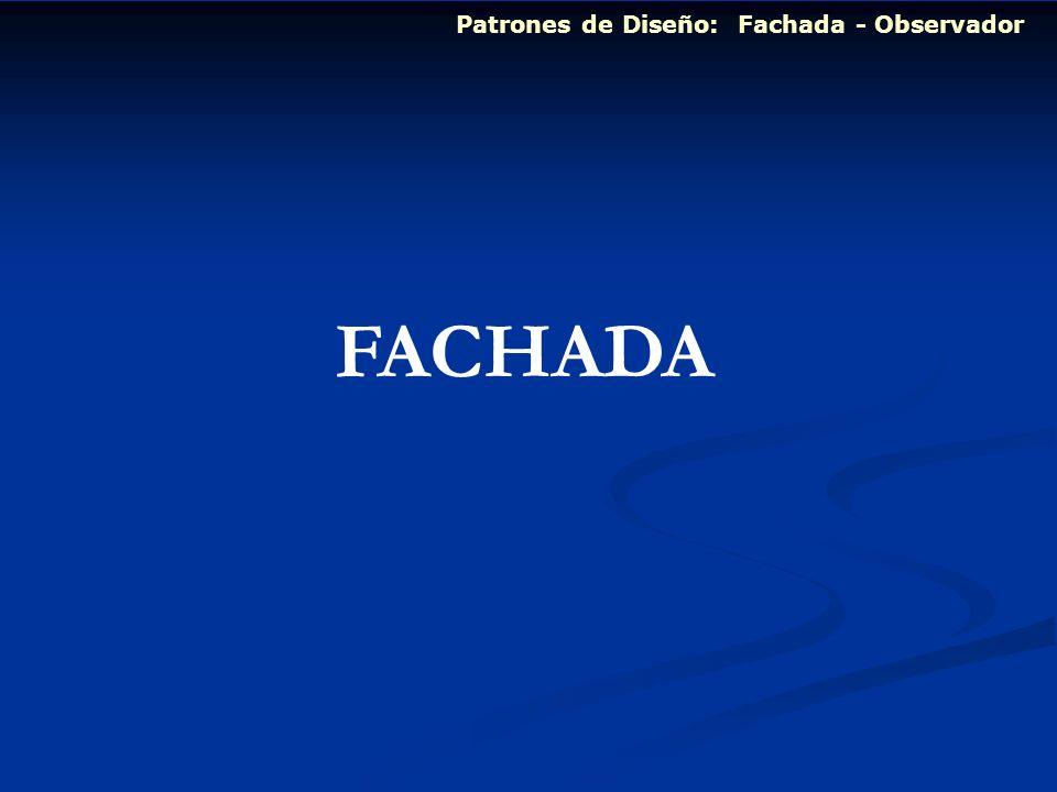 Patrones de Diseño: Fachada - Observador FACHADA
