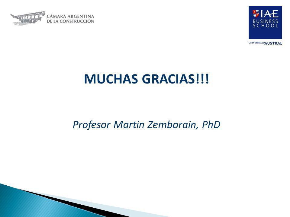 MUCHAS GRACIAS!!! Profesor Martin Zemborain, PhD