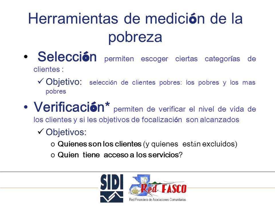 SOLIDARITE INTERNATIONALE POUR LE DEVELOPPEMENT ET LINVESTISSEMENT PAT CGAP-IFPRI(1) Definición ES: la herramienta de medida desarrollada sobretodo para los donantes.