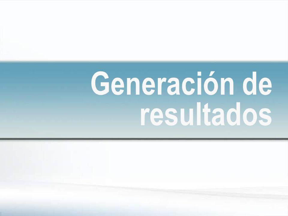 Generación de resultados