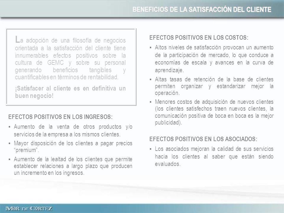 EFECTOS POSITIVOS EN LOS INGRESOS: Aumento de la venta de otros productos y/o servicios de la empresa a los mismos clientes. Mayor disposición de los
