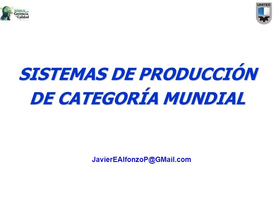 SISTEMAS DE PRODUCCIÓN DE CATEGORÍA MUNDIAL JavierEAlfonzoP@GMail.com
