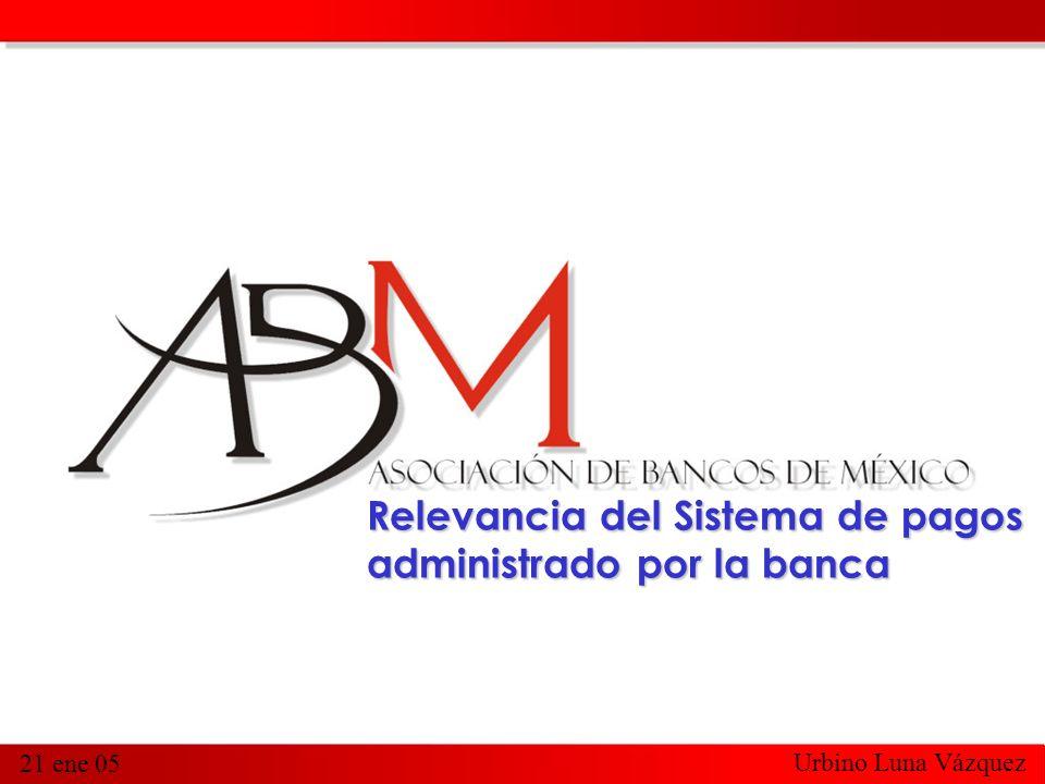 1 21 ene 05 Relevancia del Sistema de pagos administrado por la banca Urbino Luna Vázquez