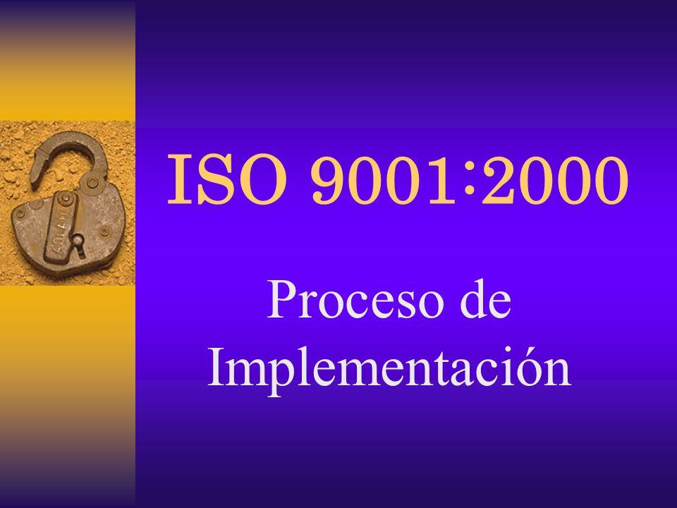 ISO 9001:2000 Proceso de Implementación