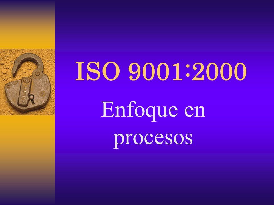 ISO 9001:2000 Enfoque en procesos