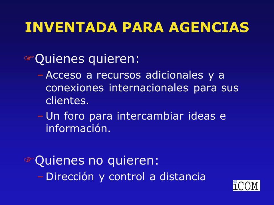 RESPONSABILIDADES DE LOS MIEMBROS FCuentas compartidas: –En nuevos negocios, las agencias no pagarán por su participación si ellos se ven beneficiados al haber ganado esta cuenta en forma regional o global.