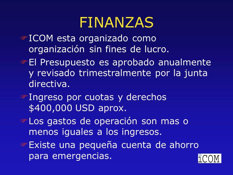 F FICOM esta organizado como organización sin fines de lucro.