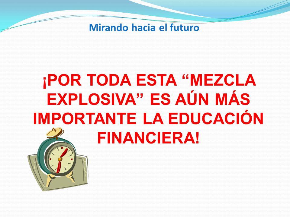 Mirando hacia el futuro ¡POR TODA ESTA MEZCLA EXPLOSIVA ES AÚN MÁS IMPORTANTE LA EDUCACIÓN FINANCIERA!
